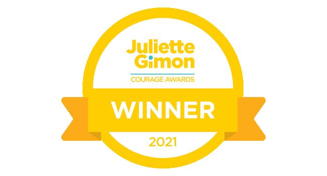 2021 Courage Award winner badge