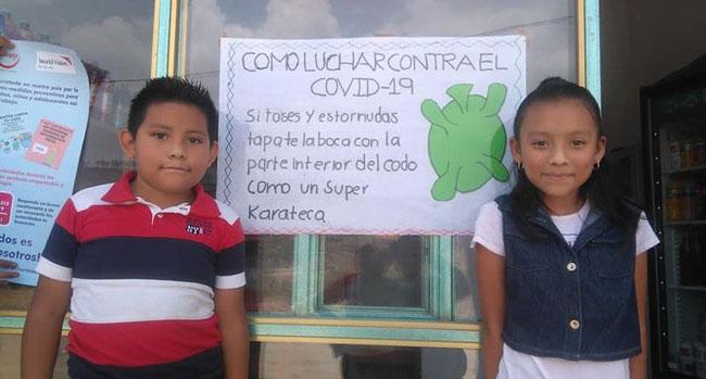 Children with coronavirus information