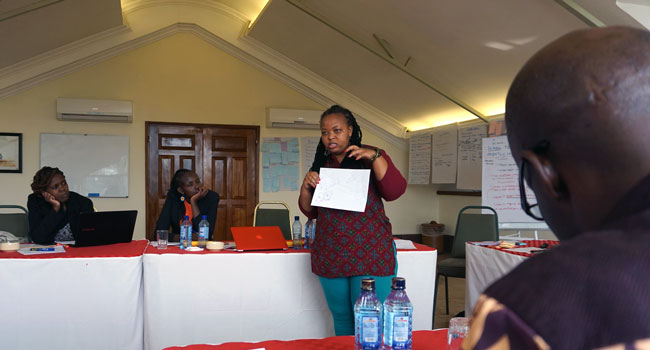 Outcome harvesting workshop in Kenya