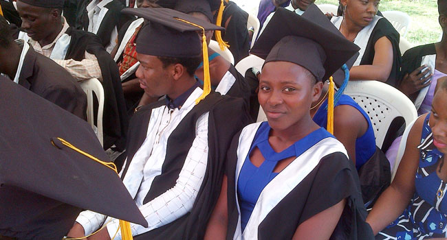 Rebecca graduates from Ekitangala High School
