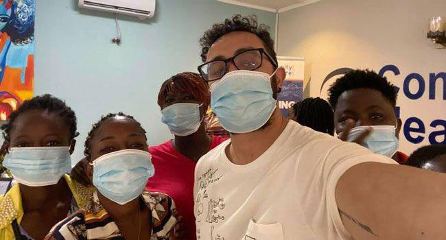 Rodrigo Barraza Garcia with partners in Liberia