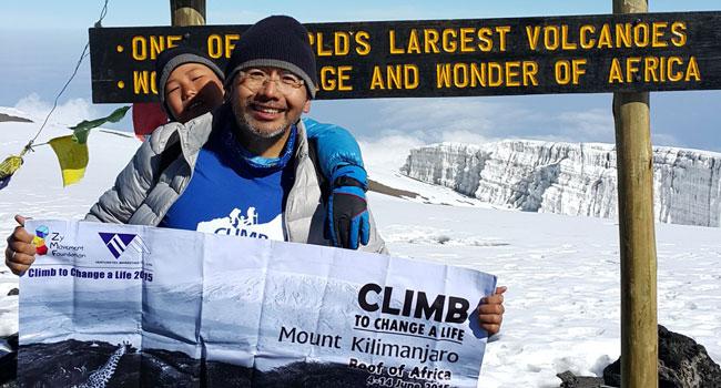 Zy on Kilimanjaro
