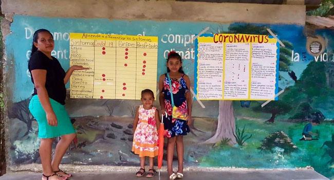 Coronavirus poster in Honduras